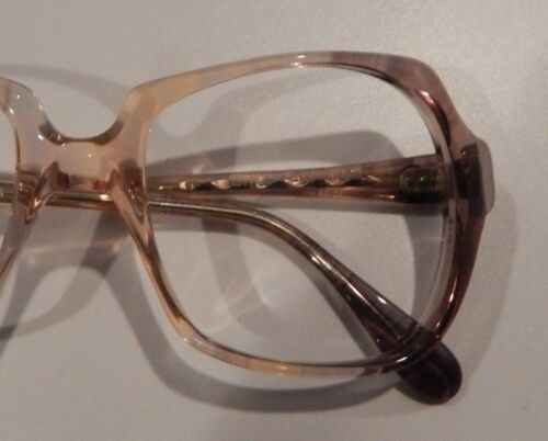 Vintage US Optical Chris Blue Wine 50//18 Ladies Plastic Eyeglass Frame NOS  #243