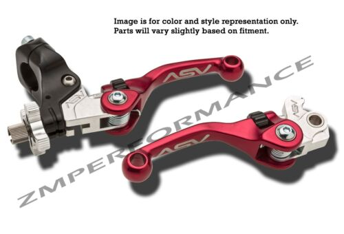 KAWASAKI KFX 400 03-06 F4 SHORTY ASV CLUTCH AND BRAKE LEVERS RED PAIR PACK