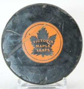 Victoria Maple Leafs WHL Converse Art Ross Hockey Game Puck (NN) Has Damage