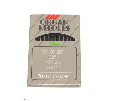 10 ORGAN  B-27 SIZE#10//70 OVERLOCK SERGER BALLPOINT NEEDLES DCX27