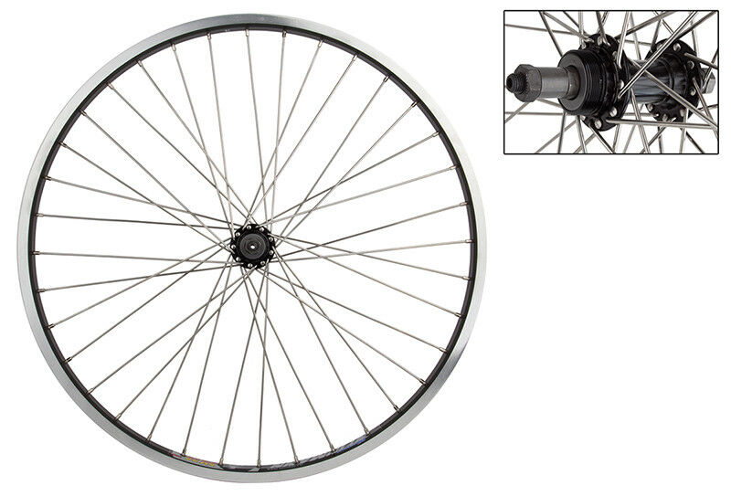 WM Wheel  Rear 26x1.5 559x24 Wei Dm30 Bk 36 Aly Fw 5 6 7sp Qr Bk 135mm 12gss