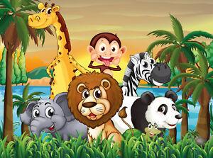 Fototapete Dschungel Tiere 405p 350x260cm 7bahnen 50x260cm