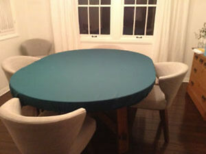 Felt Poker Game Table Cloth Cover Bonnet Elastic B L