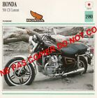 HONDA 500 CX CUSTOM JAPAN JAPON 1980 FICHE MOTO