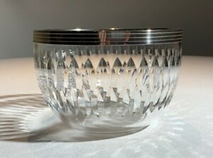 French Art Deco Sterling Silver Rimmed Crystal Berry Serving Bowl Baccarat 1920 Ebay