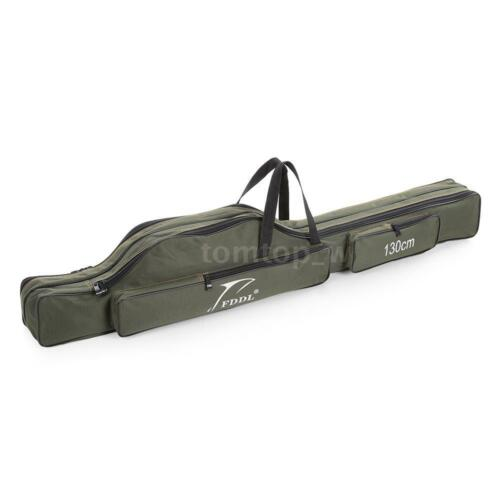 130cm Folding Fishing Rod Carrier Canvas Pole Tools Storage Bag Case Tackle B0L1