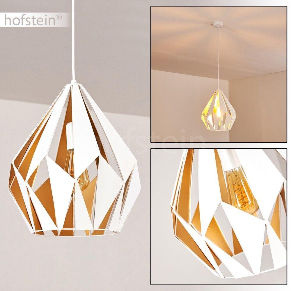 Retro Ess Wohn Schlaf Zimmer Beleuchtung Hänge Leuchten Gold weiß Pendel Lampen