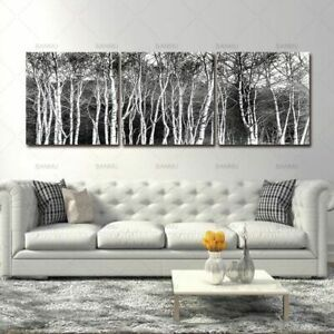 Details About Black White Tree Set Wall Art Picture Canvas Paintings Living Room Home Decor