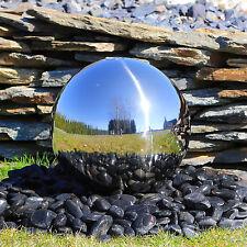 Edelstahl Springbrunnen Kugel 38cm poliert zum Brunnenbau mit LED Beleuchtung