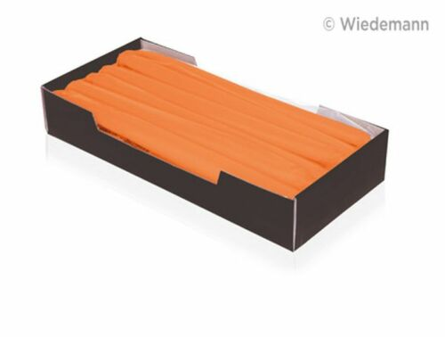 12x Leuchterkerzen 250x25 Orange Tafelkerzen Spitzkerzen RAL Gastro-Qualität