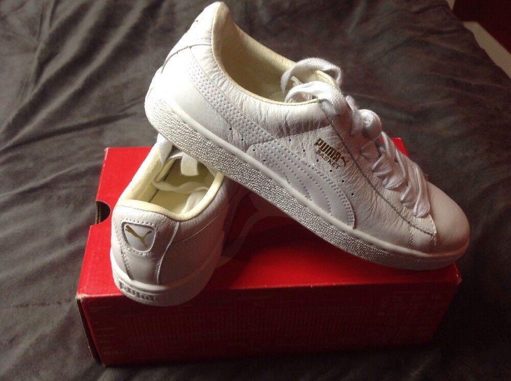 4c8f82ec5e60 ... Puma Mens Leather Low Low Low Cut Basket Classic Shoe US 7.5 5c6d9d ...