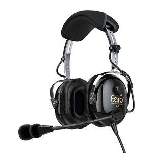 faro g2 anr lightweight aviation headset with mp3 ipod iphone ipad