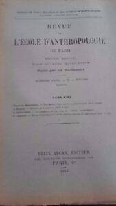 Rivista SCUOLA Antropologia 15 Eme Anni 1905 F.Alcan N° VI ABE