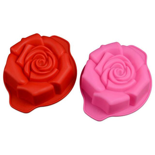 Rose Jelly Silicone Cake Mould Chocolate Pudding Mold DIY Baking Decorating SALE