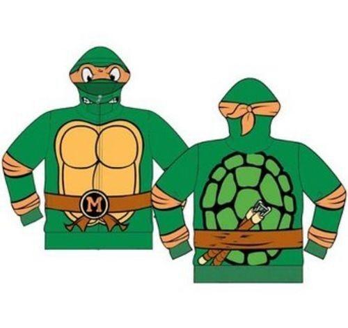 Teenage Ninja Mutant Turtles zipped up hoodie sweatshirt shirt 3T toddler boys