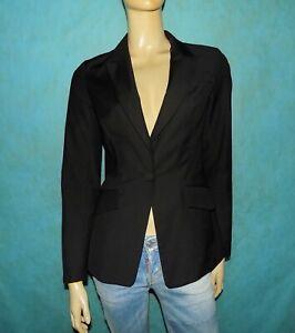 veste-blazer-MAX-MARA-Taille-Small-ou-36-noire-65-coton-TRES-BON-ETAT