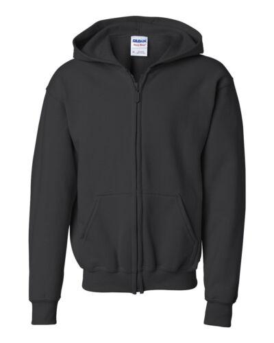 Heavy Blend Youth Full-Zip Hooded Sweatshirt Youth Hoodie 18600B Gildan