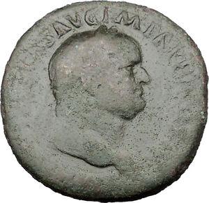 Vespasian-71AD-HUGE-Sestertius-Ancient-Roman-Coin-PAX-Eirene-Peace-i32130