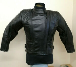 Dannisport-Ladies-Leather-Motorcycle-Motorbike-Jacket-Size-12