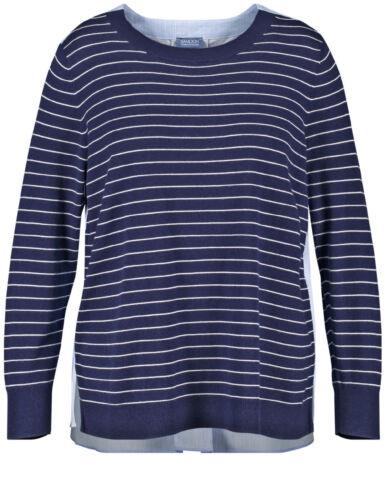 Women 52 Sweater With Blue New Gerry Gr Back Blouse di Samoon Weber TqCaC