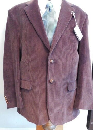 sportivo Nwt marrone 776058468016 42 Cappotto velluto 2 184 By sc Ralph Lauren coste button a Reg in rpwqrYHPF