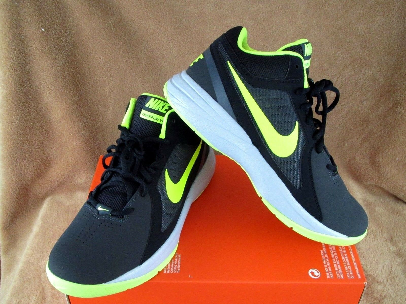 Casual wild NEW NIKE THE OVERPLAY VIII NBK SHOE ANTHRACITE/VOLT/BLK/GREY MEN'S  9