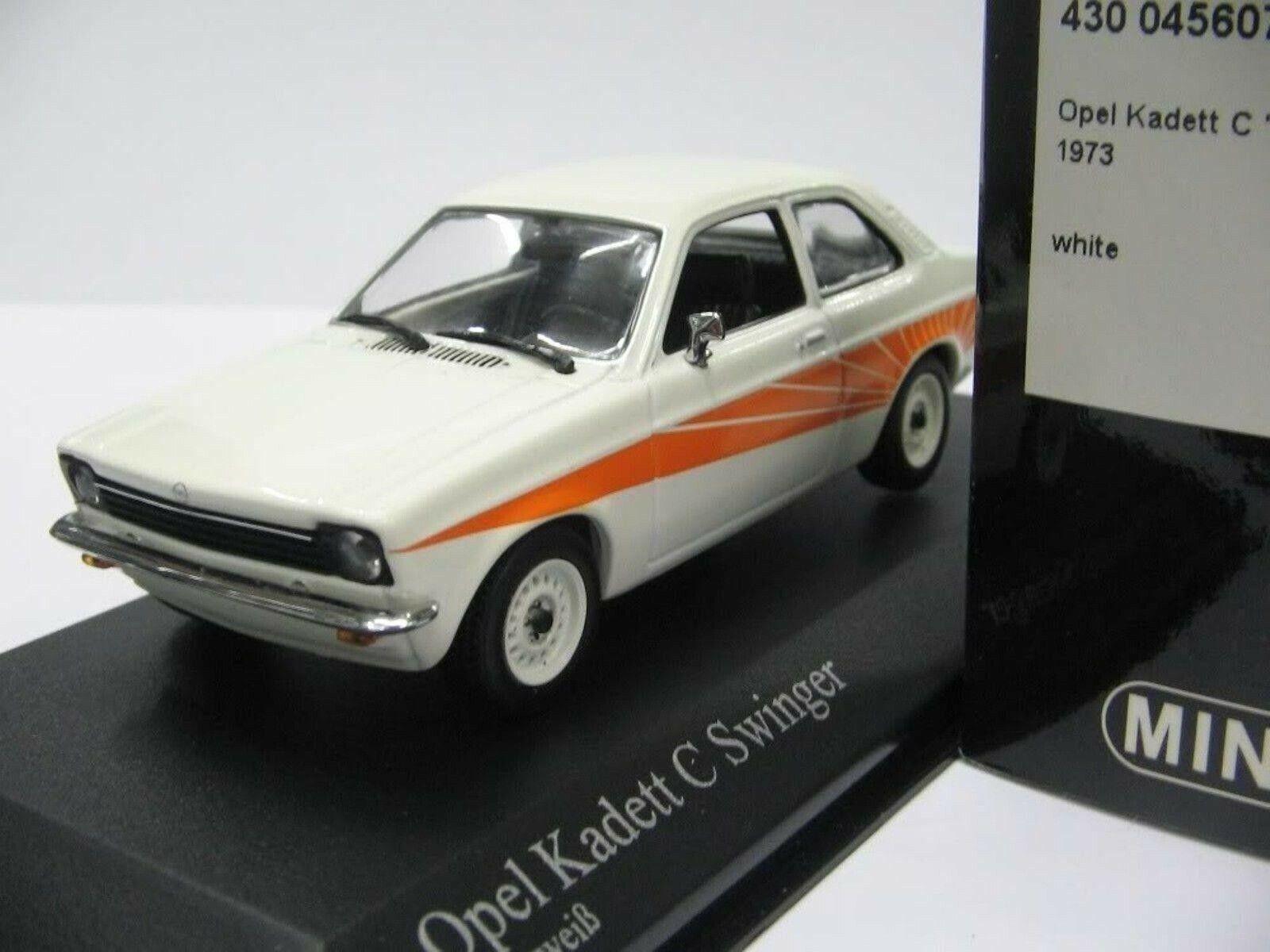 WOW EXTREMELY RARE Opel Kadett C 1200S Swinger 1973 White 1 43 Minichamps-Rekord