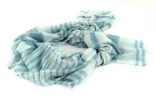 ESPRIT Sheer Stripe Scarf Schal Tuch Halstuch Damen Streifen Aqua Green Blau Neu