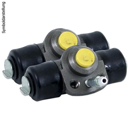 2 Bremstrommeln Montagesatz für Peugeot Bremsbacken Radbremszylinder