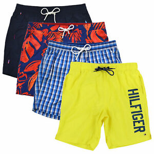 Tommy-Hilfiger-Mens-Swim-Trunks-Bathing-Suit-Lined-Shorts-Summer-Beach-Pool-New