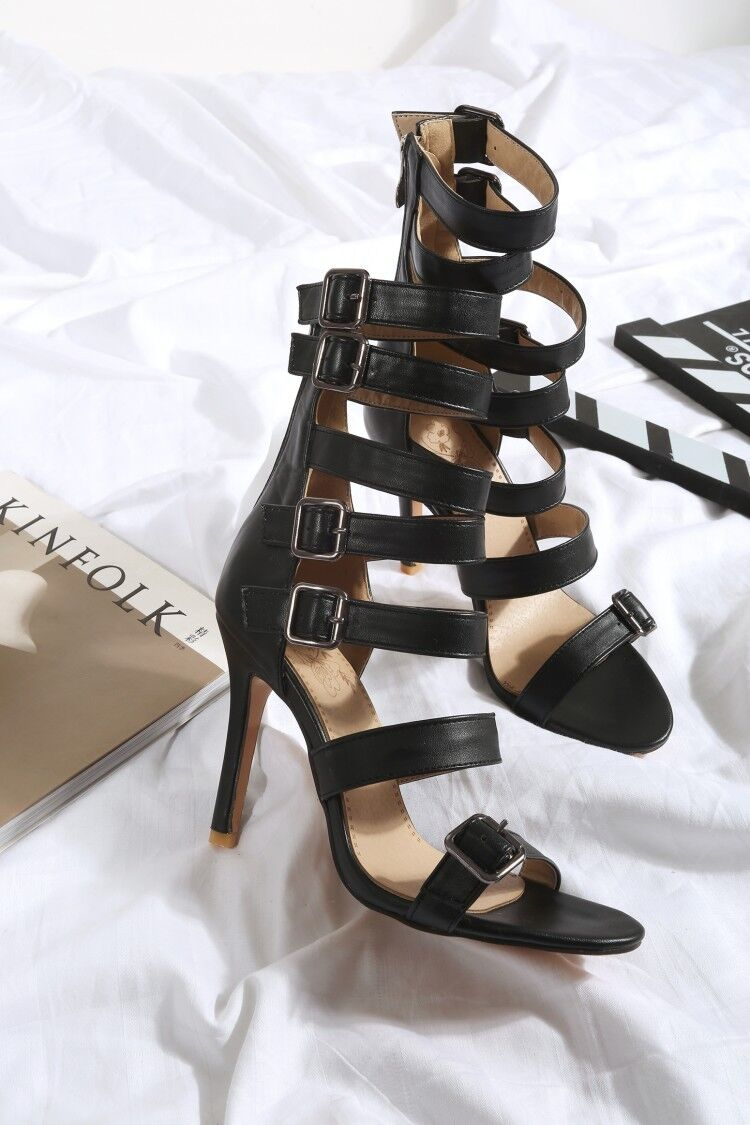 Women Gladiator Strappy High shoes shoes shoes Stiletto Heels Knee High Boots Summer Sandals 3bcc49