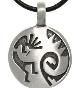 Turtle-Island-Kokopelli-Solid-Pewter-Pendant-Native-American-Collection