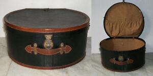 Antica 800 cappelliera da viaggio per Signora in cartone pelle cuoio ottone raso