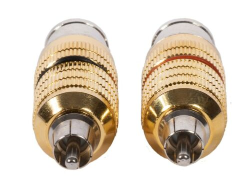 Pair FXLR-MRCA CARDAS AUDIO Clear CGA Female XLR to Male RCA Adapter Plugs