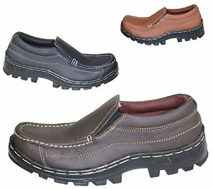 Boys-Slip-On-Shoes-Mild-Leather-Comfort-Casual-Flat-Walking-Shoes-Size