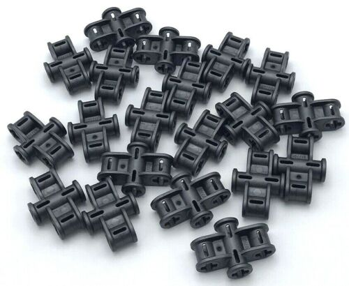 Lego 20 New Pearl Dark Gray Technic Axle Connector 2 x 3 Quadruple Parts