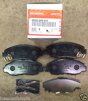 Front and Rear Ceramic Brake Pads plus Shoes For Honda Civic DX LX SE HF