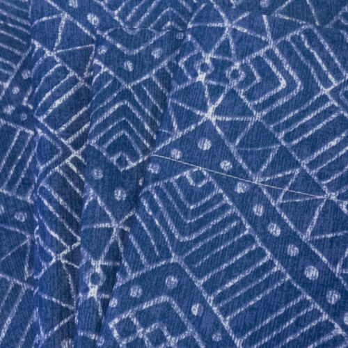Parkview Blue Diamond Printed 4-Piece 1500 Supreme Collection Sheet Set