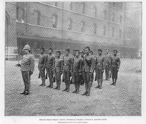 1897-Antique-Print-NORTH-BORNEO-British-Police-Captain-Raffles-Flint-18