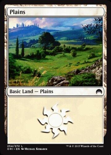 English Magic Origins MTG Magic - Foil NM-Mint 1x Plains 254