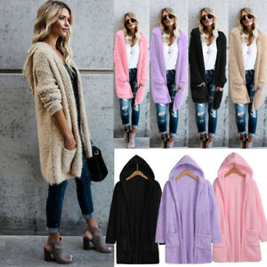 Women-Knitted-Sweater-Hooded-Ladies-Cardigan-Jacket-Coat-Outwear-With-Pocket-Hot