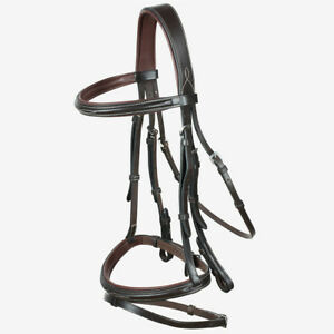 Horze-Supreme-Sparta-Snaffle-Bridle-with-Padding-and-Detachable-Flash