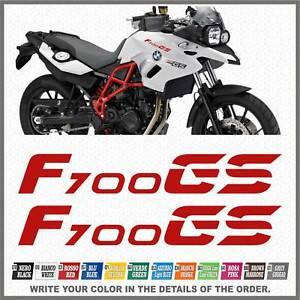 2x-F700-GS-Red-BMW-Motorrad-ADESIVI-PEGATINA-STICKERS-AUTOCOLLANT-AUFKLEBER