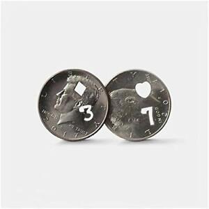 7-of-Hearts-Half-Dollar-or-3-of-Diamonds-Half-Dollar-Brand-Coin-Magic-Tricks-Fun
