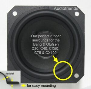Bang-amp-Olufsen-Beovox-C75-CX100-gt-Repair-Kit-4-x-Rubber-Backs-1-x-glue