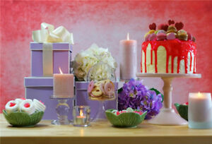 Image Is Loading Happy Birthday Photography Background Props Party Cake Flowers