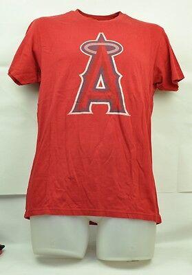 Weitere Ballsportarten Fanartikel Original Mlb California Los Angeles Angels Wright & Ditson Mittelrot Kurzärmelig T-shirt Hohe Sicherheit