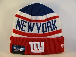 195e30b5e55 New York Giants NFL New Era Cuffed Knit Hat Biggest Fan 190291826776 ...