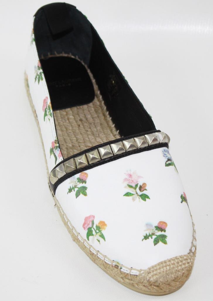 AUTH Stuart Weitzman Donna Shoes Twodays Lace Sunflower Paten Flat Shoes Donna 8.5 4e258d