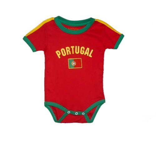 Baby Portugal Team Bodysuit Infant Soccer Jersey Futbol Flag T-Shirt All Seasons